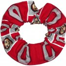 Ohio State Buckeyes Patchwork Fabric Hair Ties Scrunchie Scrunchies by Sherry NCAA