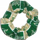 USF Bulls Patchwork Fabric Hair Ties Scrunchie Scrunchies by Sherry NCAA