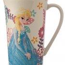 Disney Store Elsa Frozen Coffee Mug Cup Floral New 2015
