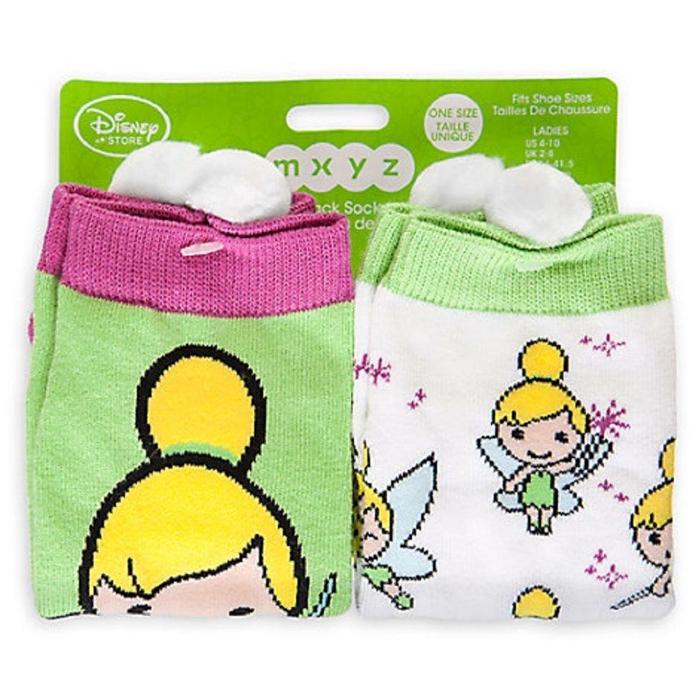 Disney Store Tinker Bell Socks for Women - 2-Pack Fits Shoe Sizes 5-10 New
