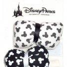 Disney Minnie Mouse Hair Barrettes Puffy Bows Black White Clasp Theme Parks