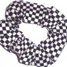 Checkered Flag Racing NASCAR Fabric Hair Scrunchie Scrunchies by Sherry