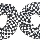 Checkered Flag Racing NASCAR Fabric Mini Hair Scrunchie Scrunchies by Sherry Set of 2