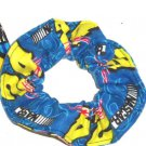 Jeff Gordon #24 Flannel Fabric Hair Scrunchie NASCAR Scrunchies by Sherry