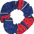 Dale Earnhardt Jr #88 NASCAR Blue Flannel Fabric Hair Scrunchie Scrunchies by Sherry
