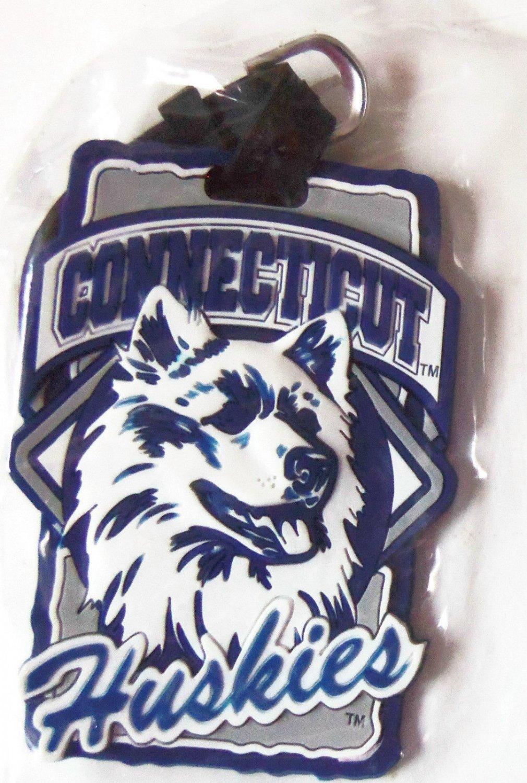 NCAA Colleg Team Luggage Tag UConn Huskies New