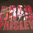 Brad Paisley Bonfires Amplifierst T-Shirt Concert Tour Tee Shirt Size Large 2007