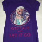 Disney Frozen Elsa Let it Go T-Shirt Shirt Purple Girls Size 7-8