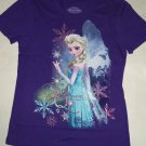 Disney Frozen Elsa Snow Queen T-Shirt Shirt Purple Girls Size 14-16