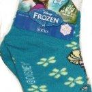 Disney Frozen Elsa Teal Socks Sock Size 5-6.5