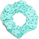 Green on Green Print Fabric Hair Ties  Scrunchie Scrunchies by Sherry