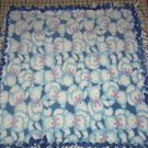 "Teddy Bears Fleece Baby Pet Lap Blanket Blue Hand Tied 30"" x 30"""