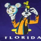 Disney T-Shirt Mickey Unlimited Goofy Mouse Orlando Florida Purple Vintage Size XL