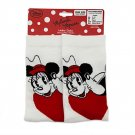 Disney Store Minnie and Mickey Mouse Socks Ladies Shoe Sizes 5-10 Red White