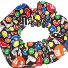 M&M's Brown Fabric Hair Scrunchie Ties Pony Tail Holder Tie Scrunchies by Sherry