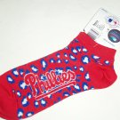 Philadelphia Phillies Short Socks Ladies Mens MLB Baseball
