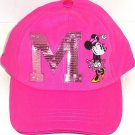 Disney Minnie Mouse Hat Sequin M Youth Girls Ladies Hot Pink Bling Theme Parks