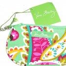 Vera Bradley Clip Zip ID Tutti Frutti Green Pink New
