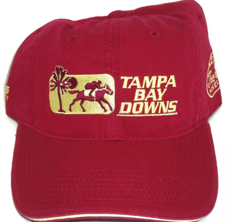 Tampa Bay Downs Hat Horse Racing Maroon Burgundy