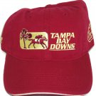 Tampa Bay Downs Hat Horse Racing Maroon Burgundy