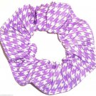 Purple White Houndstooth Print Hair Scrunchie Ponytail Holder  Scrunchies by Sherry