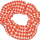 Orange White Houndstooth Print Hair Scrunchie Ponytail Holder  Scrunchies by Sherry