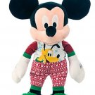 Disney Store Mickey Mouse Holiday Pajamas Plush Toy Pluto 17'' 2015 New