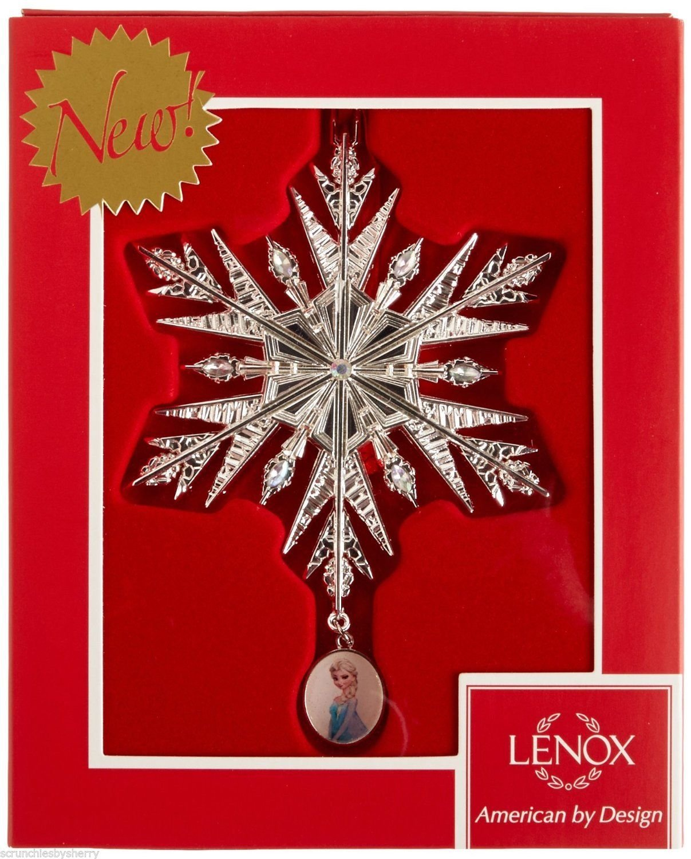 Disney Frozen Elsa Snowflake Ornament Christmas Holiday Lenox 2015