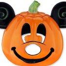 Disney Theme Parks Mickey Mouse Pumpkin Votive Candle Holder Ceramic New