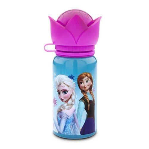 Disney Store Frozen Anna Elsa Aluminum Water Bottle Meal Time Magic 2014 New