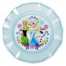 Disney Store Frozen Fever Anna Elsa Dinner Plate Blue Meal Time Magic 2015 New