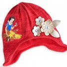 Disney Store Snow White Knit Hat Girls Red New