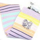 Disney Minnie Mickey Mouse Socks Ladies 8-10 Pink Purple Yellow Orange Striped