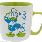 Disney Store Donald Duck Mug Coffee Cup Green New 2016