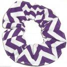 Purple Chervon Print Hair Scrunchie Ponytail Holder Scrunchies by Sherry