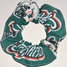 Miami Dolphins Football New Teal Fabric Hair Scrunchie Scrunchies NFL