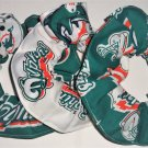 Miami Dolphins Fabric Hair Scrunchie Scrunchies by Sherry Ties Lot of 3