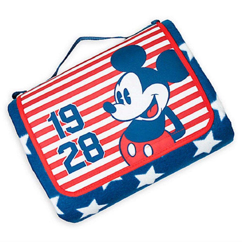 Disney Store Mickey Mouse Americana Blanket 2017