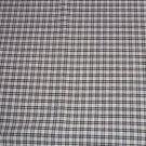 White Black Plaid Fabric Hair Scrunchie Scrunchies by Sherry