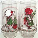 Holly Hobbie Coke Glasses American Greetings Limited Edition Vintage Lot of 2