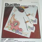 Bucilla Stamped Cross Stitch Kit Autumn Harvest Table Runner 82870 Vintage 1990