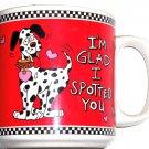 Dalmatians Coffee Mug Dog I'm Glad I Spotted You Red