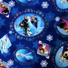 Disney Frozen Scenic Patch Twill Elsa Anna Olaf Kristoff Hans Sewing Craft BTY