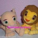 Disney Lion King Simba Plush Toys Bean Bag Stuffed Animals Lot of 2