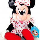 Disney Minnie Mouse Plush Toy applause White Dress with Red Polka Dots