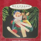 Hallmark Ornament Christmas Santa's Ski Adventire Skiing 1997 Holiday