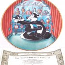 Looney Tunes Collector Plate For Scent-Imental Reasons Franklin Mint Retired