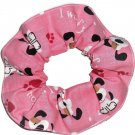 I Woof You Pink Hearts Dog Fabric Hair Ties Scrunchie Scrunchies by Sherry