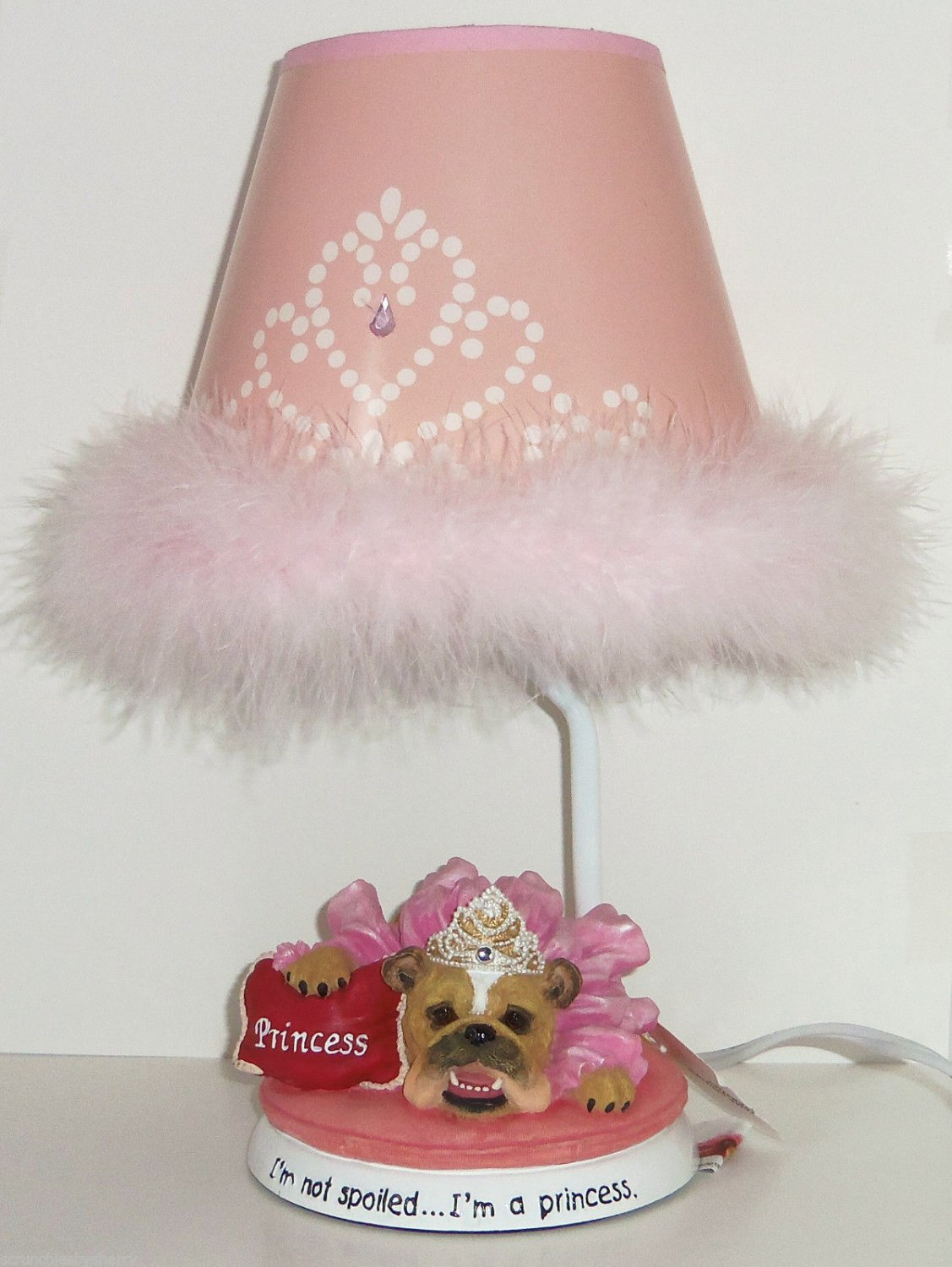 Zelda Wisdom Lamp I'm Not Spoiled... I'm A Princess Bulldog Pink
