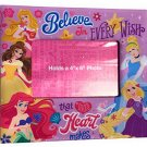 "Pink Disney Princesses ""Believe in Every Wish That Your Heart Makes"" Photo Frame"